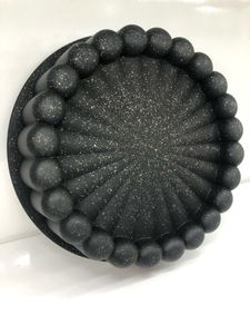 Zellerfeld Design Backform Quicheform Kuchenform Obstkuchenform Rund Ø24cm aus hochwertigem antihaftbeschichtetem Aluguss Schwarz (TRM 1116)