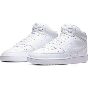 Nike Court Vision CD5436-100 Hoher Sneaker, Turnschuh, weiß, Leder, NEU - Kinderschuhe Teens Mädchen Gr. 25 - 42, Weiß, leder/synthetik