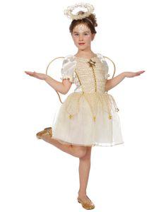 Kostüm Kleid Engel Kinder 3-tlg. Größe: 128