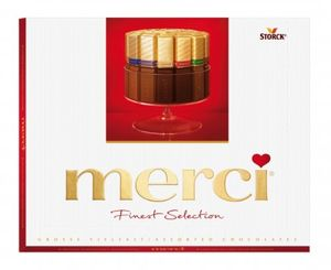 Merci Finest Selection Mandel Knusper Vielfalt Schokolade 250 g