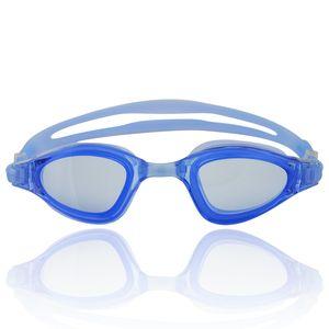 """Schwimmbrille für Erwachsene inkl. Transportbox : UV-Schutz & Anti-Fog """"Shark"""" AF-1800 / blau"""