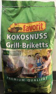 Favorit Kokosnuss Grill Briketts  Grillkohle ökologisch Grillen Kokos 5 Kg.