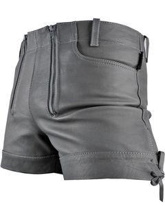 Bockle® Gray Pants Bockle® Cracker Pants Lederhose Leder Jeans Graue Shorts Pants kurze Lederhose, W32/L30