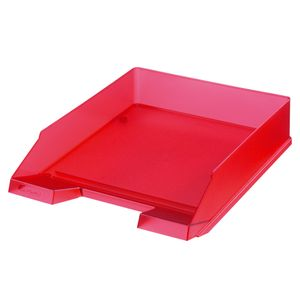 Herlitz Ablagekorb / Briefkorb / Briefablage / Farbe: transluzent rot