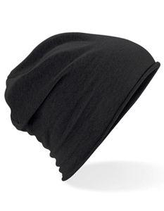 Jersey Beanie Wintermütze - Farbe: Black - Größe: One Size