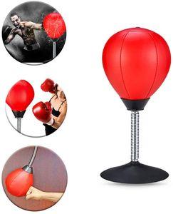 NightyNine Punchingball Tisch, Schreibtisch Boxbirne Punching Ball im Büro zum Frustablassen und Stressabbau MIT Inflator