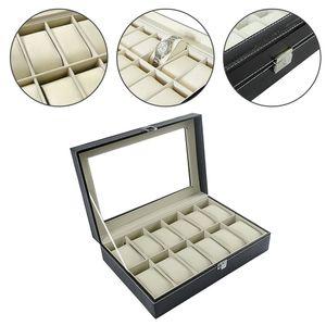 Uhrenbox Uhrentruhe Uhrenkasten Uhrenkoffer Für 12 Uhren Uhrenschatulle