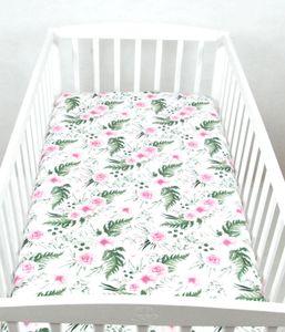 BABYLUX Spannbetttuch 70 x 140 cm Baby SPANNBETTLAKEN Baumwolle Kinderbett 110. Wilde Blüten