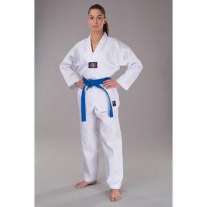 Taekwondo Anzug Erwachsene & Kinder Basic  weiß : 160,160