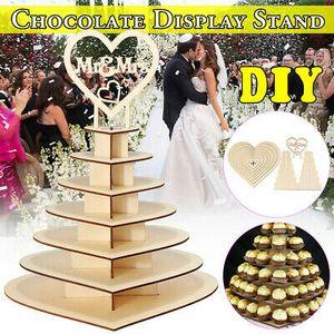 Holz Mr&Mrs Herz Baum Hochzeit Display Stand Herzstück Schokolade Ferrero Rocher