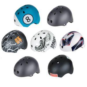Spokey Fahrradhelm, BMX- und Skaterhelm Gr. 52-59 cm, Farbe:Cubex, Größe:52-54