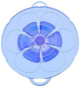 Kochblume das Original - der Überkoch-Schutzdeckel klein Farbe blau 25,5 cm
