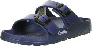 ConWay MISTRAL Damen Badeschuhe Latschen Sandalen Pantoletten blau, Größe:41, Farbe:Blau
