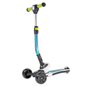 Best Sporting 3-Rad Kinder Scooter Space mit LED Lampe + LED Rädern, türkis-weiß