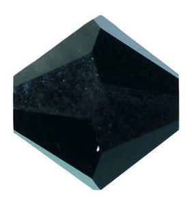 Swarovski-Perlen, Ø 4mm, 25 Stück Schwarz