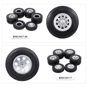 Kompatibel mit Tamiya 1/14 RC Traktor LKW Aluminiumlegierung Vorder- und Hinterrad Rad Felgen Reifen 6PCS