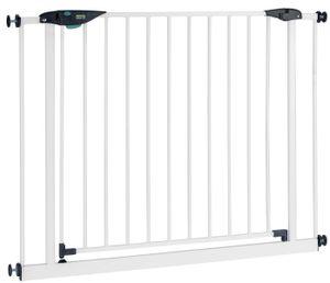 BOMI Schutzgitter Mira XXL Tür 83-93 cm   Zum Klemmen   90° Stop   Schließt automatisch   Türschutzgitter   Treppenschutzgitter Türgitter Klemmgitter