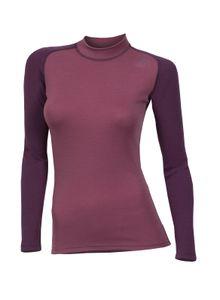 Aclima WarmWool Women's Crew Neck Shirt, Farbe:damson/ grape wine, Größe:2XL
