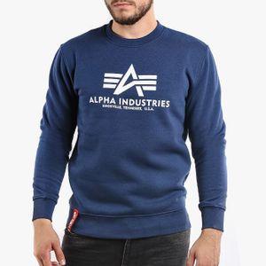 ALPHA INDUSTRIES Basic Herren Sweatshirt Navy, Größenauswahl:XL