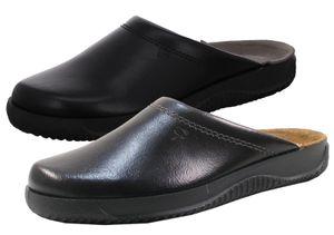 Rohde Herren Hausschuhe Pantoffeln Leder Soltau-H 2772, Größe:45 EU, Farbe:Braun