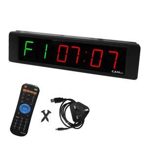 Gym Timer Stoppuhr mit Fernbedienung Countdown/Up-Uhr für Home Gym Fitness Training LED-Intervall-Timer-Uhr mit Wandhalterungen