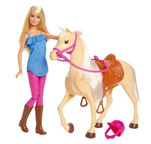 Barbie Pferd & Puppe