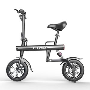 12 Zoll E-Bikes BK1HW,  klappbar Elektrofahrrad mit 25Km/h/Maximale Belastung 120kg,3 Geschwindigkeitsmodi, Luftreifen,Elektrofahrrad faltbares E-Bike Klapprad E-Bikes City Bike Mountainbike Schwarz