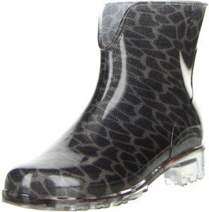 G&G Damen Gummistiefel Stiefeletten Regenschuhe Leopardenmuster, Größe:42, Farbe:Mehrfarbig