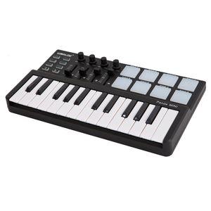 Worlde Panda Mini Portable Mini 25-Tasten USB-Tastatur und Drum Pad MIDI-Controller