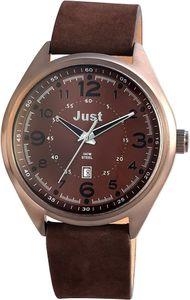 Just Uhr Armbanduhr 48-S1231-BR dunkelbraun Echt Leder