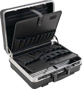 PROMAT Schalenkoffer BxTxHmm m.Wkz.taschen 29l ABS-Ku.Alu-Rahmen PROMAT