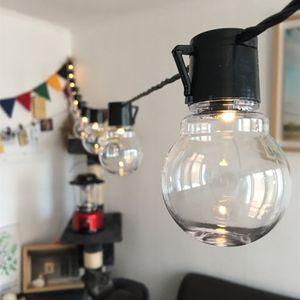 6M G45 Globe 20 LEDs Glühbirne Warmweiß Lichterkette Garten Party Weihnachten Deko Lichterketten