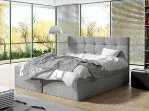 Mirjan24 Boxspringbett Luanda, Doppelbett mit zwei Bettkästen und Matratze, Ehebett (Farbe: Muna 08, Größe: 140x200 cm)
