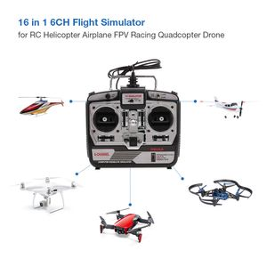 16 in 1 6CH USB Flugsimulator Emulator fš¹r RC Hubschrauber Flugzeug FPV Racing Drone Quadcopter