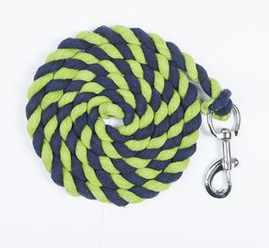 HKM Strick -Baumwolle- mit Karabinerhaken, Farbe:0141 Sortiert, Größe:180 cm
