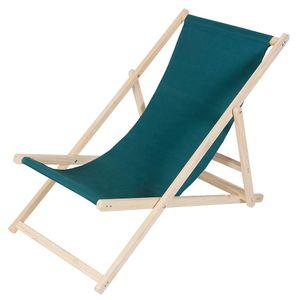 Strandstuhl Strandliege Holz Liegestuhl Gartenliege Balkonliege Campingliege Sonnenliege Faltliege Freizeitliege Terassenliege