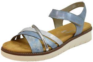 Remonte D2058-12 Lite`n Soft Damen Sandalen Wechselfußbett blau kombi : 39