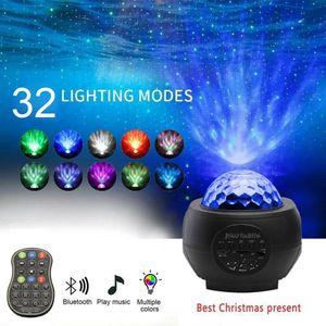Bluetooth LED Night Light Galaxy Sternennachtlicht Projektor Lautsprecher Ocean Star Sky Party  Light