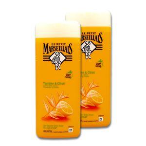 Le Petit Marseillais Duschgel Eisenkraut & Zitrone, 2 x 400 ml