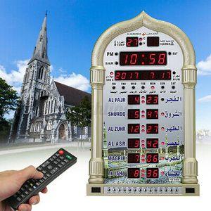 Azan Gebetsuhr Muslim Wanduhr Moschee Uhr Ezan Islam Saati + Fernbedienung