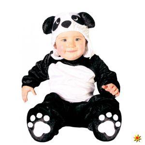 Fiestas Guirca strampler Panda Junior Polyester schwarz mt 12-24 Monate