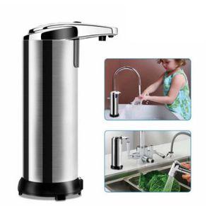 Seifenspender Automatisch, Seifenspender Sensor Infrarot für Küchen und Badezimmer mit Wasserdichter Basis (250 ml)