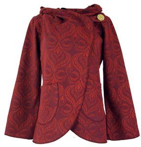 Cape Boho Wickeljacke - Rot, Damen, Baumwolle, Größe: M