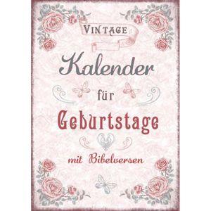 Vintage - Kalender für Geburtstage