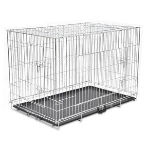 Faltbare Outdoor-Hundezwinger Hundekäfig Transportbox - Tierlaufstall Metall XXL |70512