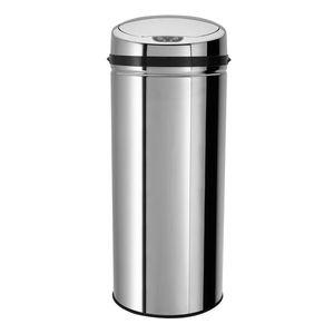 Echtwerk Abfalleimer mit Sensor 42 Liter, Farbe Silber