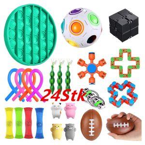 24 Stück Zappeln Sensorisches Spielzeug Fidget Toys Set Autismus ADHS SEN Stressabbau Spielzeugset