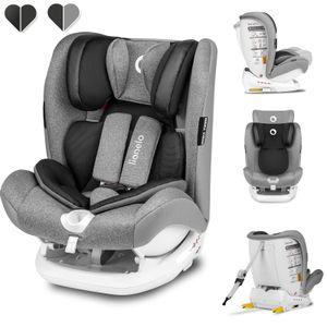 Lionelo Oliver sitzerhöhung auto kinder Kindersitz Autokindersitz 9-36kg ISOFIX Grau