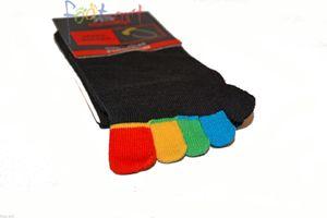 2 Paar Zehensocken Baumwolle Zehenstrumpf fünf bunte Zehen Socken  Damen Herren Gr. 36/41