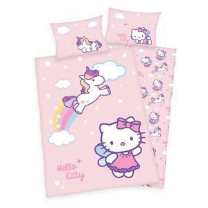 Hello Kitty Baby Bettwäsche mit Einhorn 40 x 60 und 100 x 135 cm